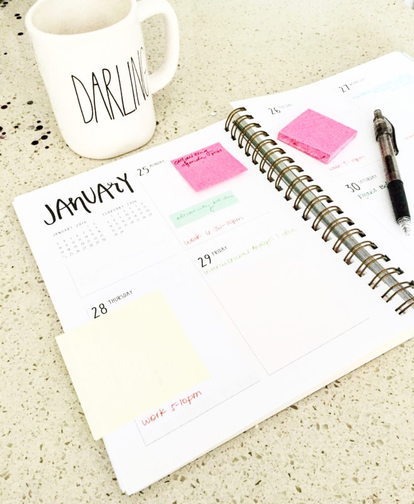 How I Organize My Agenda